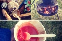 Utendørs suppekokin