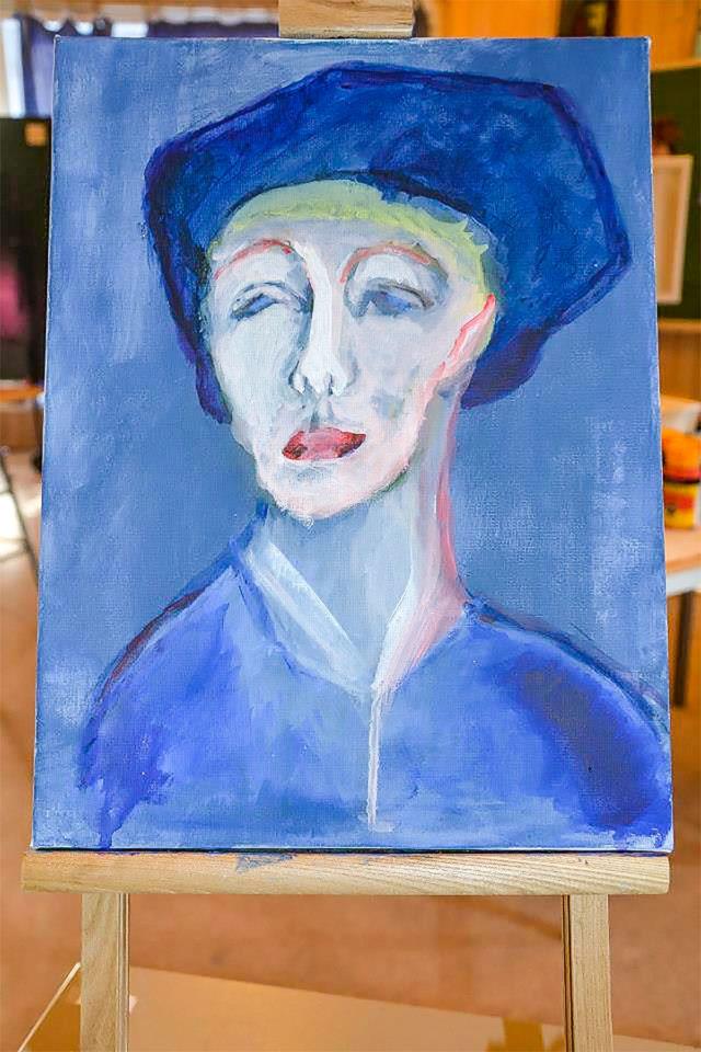Kunst fra 10.klasse på Steinerskolen i Askim