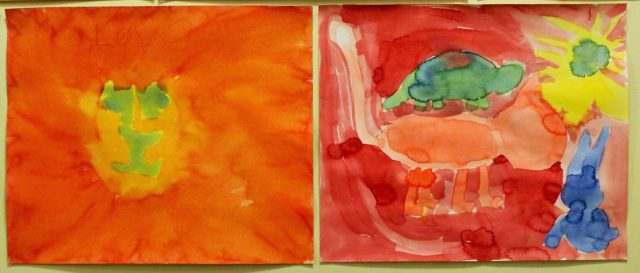 Maleri 3.klasse Steinerskolen Askim