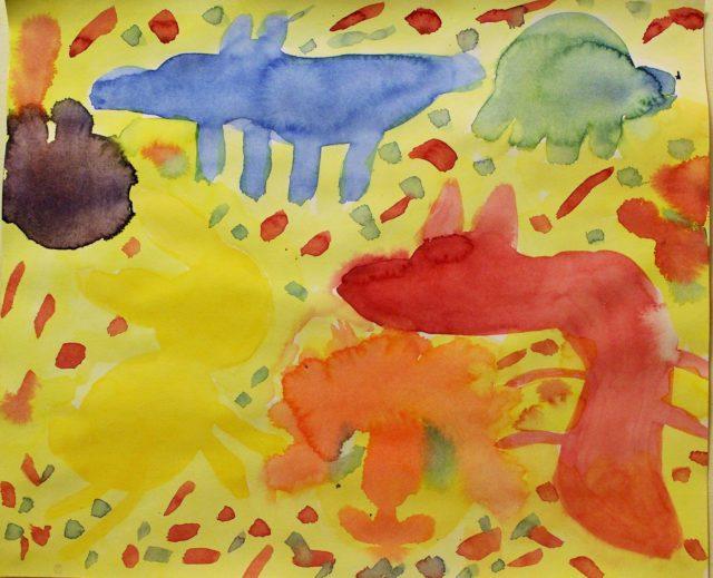 Maleri 3.klasse Steinerskolen i indre Østfold
