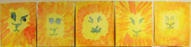 Malerier 3.klasse Steinerskolen i Askim