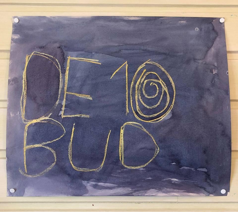 4.klasse Steinerskolen i Østfold elevarbeider de 10 bud.