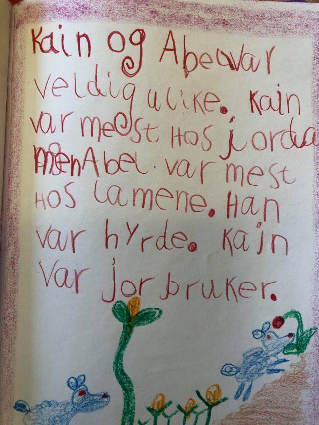 4.klasse Steinerskolen i Østfold elevarbeider - Kain og Abel