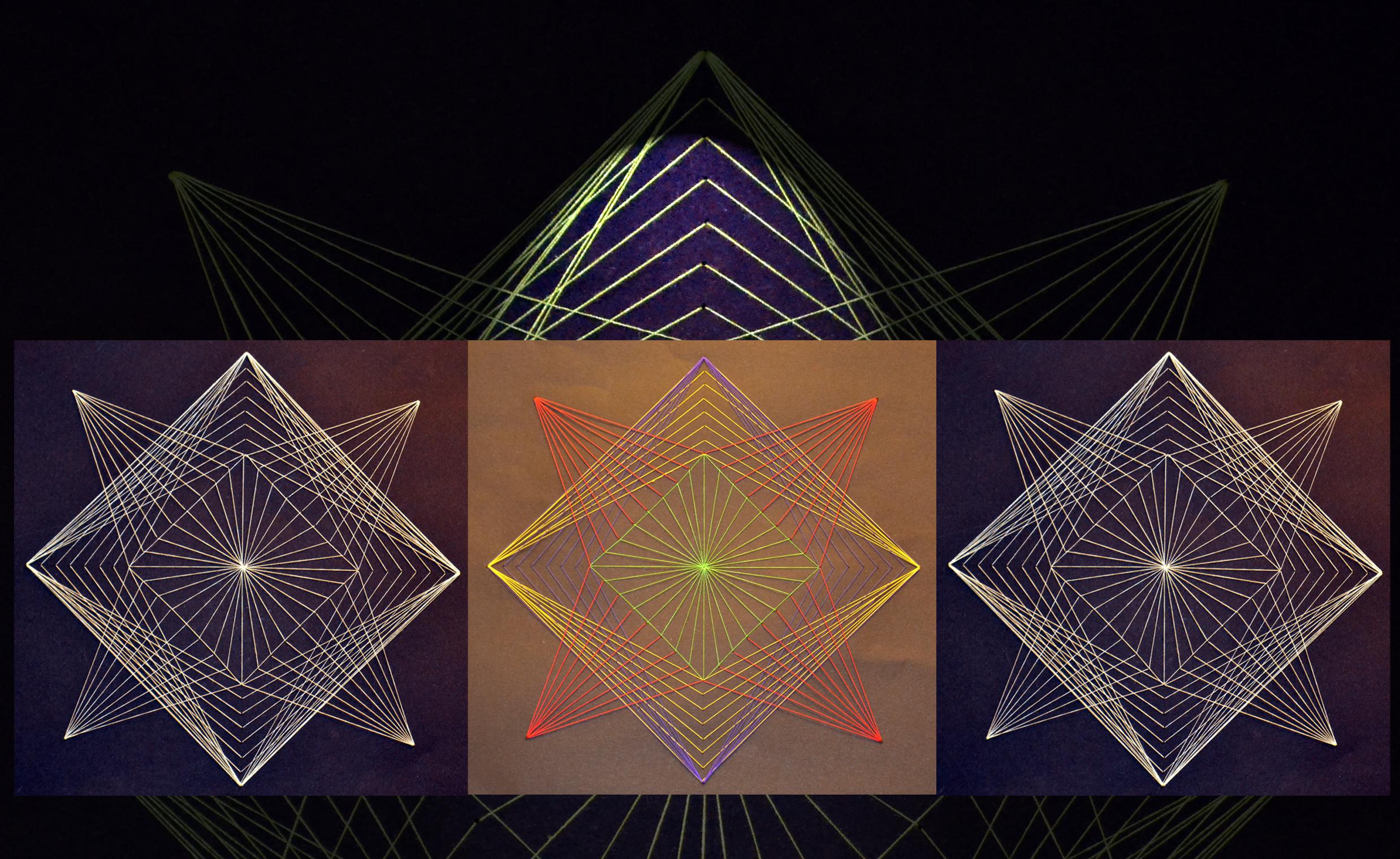 Tiende klasse har laget tråd geometri